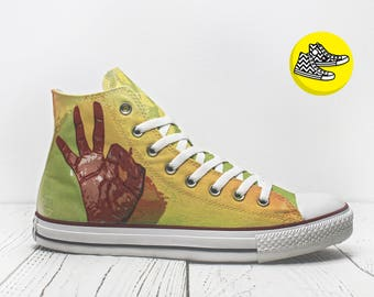 OK custom design converse shoes casual sneakers