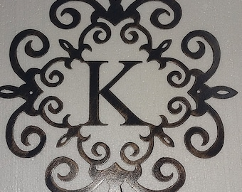 Family Initial, Monogram Metal Wall Sign, Wall Decor - Any Letter, 20""