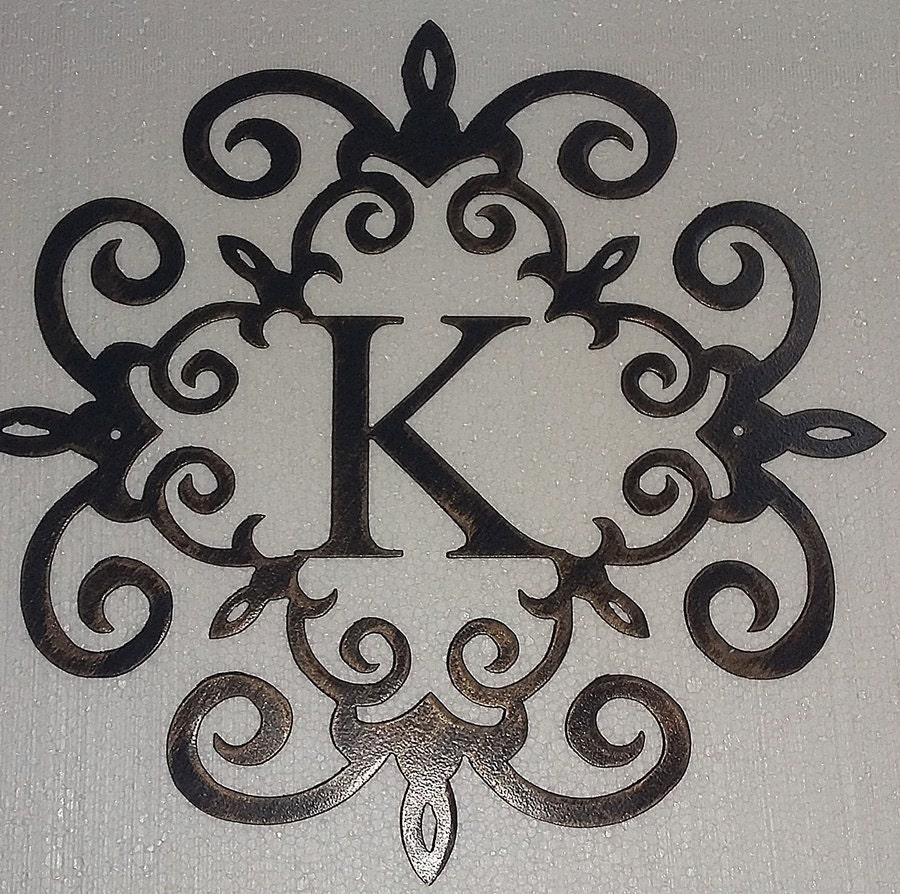 We guarantee that you cannot find the same art pieces at a cheaper price. Family Initial Monogram Metal Wall Sign Wall Decor Any