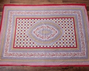 Vintage Hippie Tapestry // 70s Wall Hanging Boho Indian Batik Festival Decor - 4'x5'