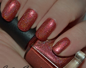 Fireball - Red Holographic Glitter Nail Polish