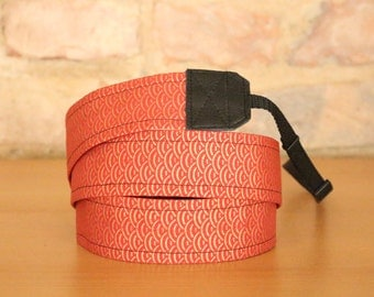 Camera strap, camera strap, DSLR, Orange, gold, Japan, fabric, camera strap,