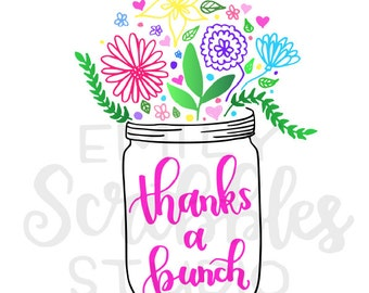 Thanks a Bunch Printable Card