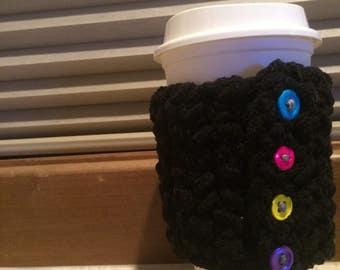 Crocheted coffee cozie