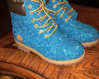 Custom Glitter Timberland Boots