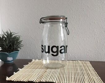 Flip Top Glass Jar Etsy