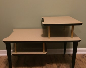 Pair of vintage mid century side tables