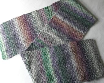 Wool Angora Scarf - handknitted