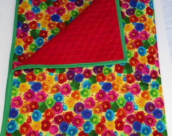 colorful Handmade Quilt 42x37