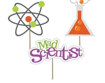 Cupcake Topper, Scientist cupcake toppers, Scientist, Mad Scientist Decorations, Science party, Scientist decor, science, party supplies