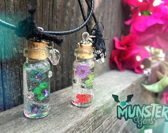 Flower Vial necklace