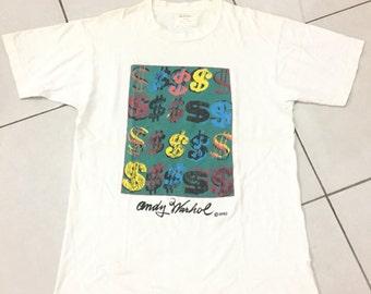 Vintage 1990 Andy Warhol Dollar Shirt