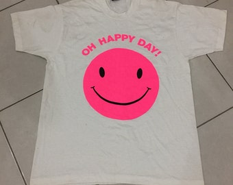 Vintage 80s 90s Smiley Face Oh Happy Day Shirt