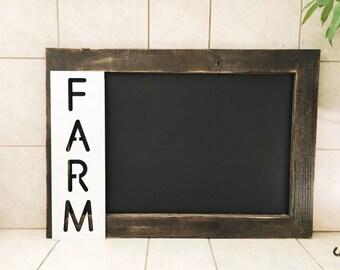 Farm Metal Sign - Farm Sign - Metal Sign - Metal Wall Art - Metal Home Decor - White Farm Sign