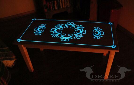 Glow Table Glow In The Dark Table Custom Epoxy Resin Coffee