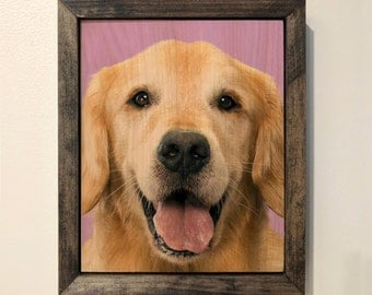 Golden Retriever Wooden Sign