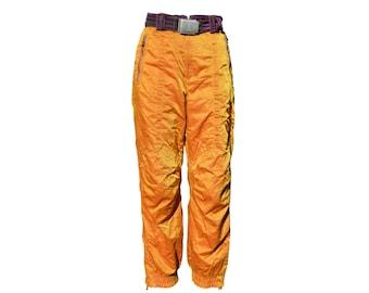 Vintage Bogner Aloha women men unisex ski snow pants golden size US10 Vtg 80's orange