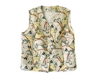 Vintage Atelier Creation women vest 100% silk