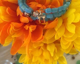 Sweet baby blue wrap bracelet