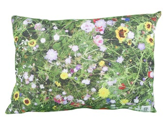 Pillow rectangle garden flowers