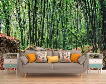 Forest Wall Decal, Tree Wall Decal, Tree Wall Mural, Forest Wall Covering, Part 45