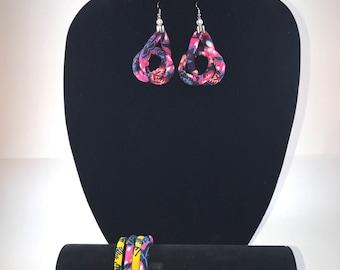 Ankara wax earing  4 bracelet  jewelry african