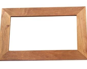 Toko light mango solid wood frame mirror - Matt finish - Handcrafted