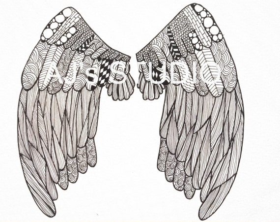 printable angel wings coloring pages - photo#44