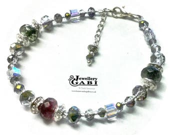 Glitzy Glamorous Crystal and Gemstone Sparkle Bracelet