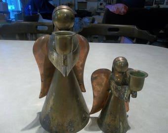 Copper Angel Candleholders