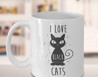 Cat Coffee Mug - Black Cat Mug