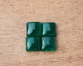 Natural Green Onyx Square shape calibrated sizes available in 4,5,6,7,8,9,10,11,12,13,14,15,16,17,18 mm sizes, custom sizes available