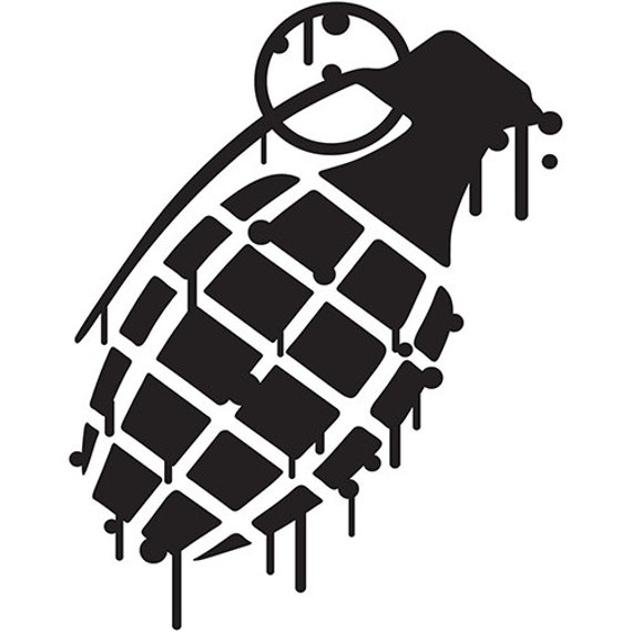 Vinyl Decal Sticker - Grenade Decal for Windows, Cars, Laptops, Macbook, Yeti, Coolers, Mugs etc