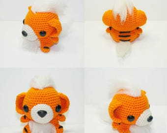 Growlithe Pokemon amigurumi plush toy