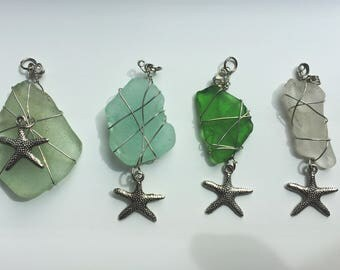 Sea Glass Starfish Pendant