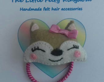 Felt fox hair bobble, fox hair accessory, felt bobble, fox bobble, fox hair tie