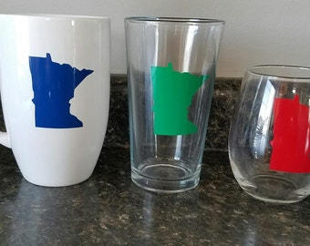 Customize Your Mugs, Glasses Etc       Customize to your state or design. YOU PICK