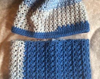 Crochet Hat & Cowl Set