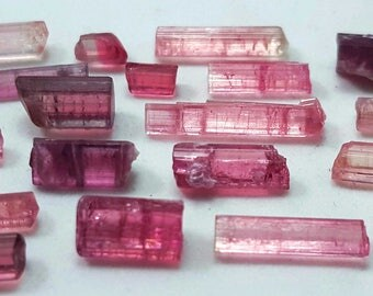 54 Carats Stunning Pink Tourmaline Crystals from Afghanistan