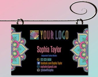 Yard Sign Banner * 18x27 inch * Yard Sign for your Brand * Pop Up Shop Boutique Parties Invitations Banner * Mandala Yard Sign