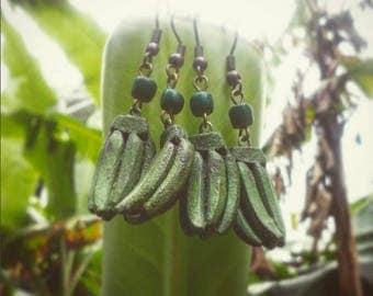 Plantain Banana Dangle Earrings