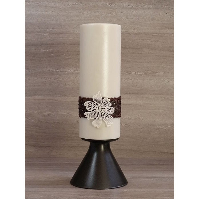 Modern Bronze Pearl Home Decor Candle Arrangement