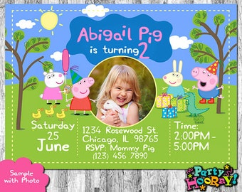 Peppa Pig Invitation, Peppa Pig Birthday Invitation, Peppa Pig Party, Peppa Pig Invites, Peppa Pig Printables, Peppa Pig Thank You Card Free
