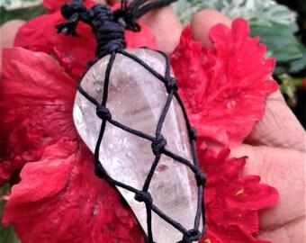 Clear Quartz Macrame' Necklace