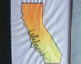 Watercolored States