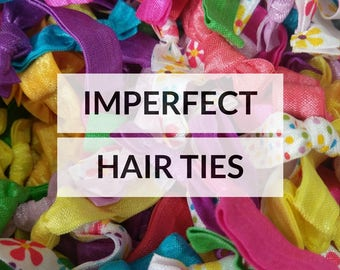 Imperfect hair ties - Elastic Hair ties - Ties & Elastics - No crease hair ties - Hair ties bulk - Ponytail holder - Fold over elastics