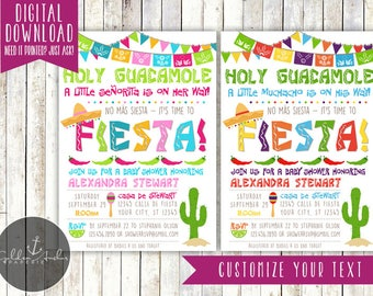 Fiesta Baby Shower Invitation, Fiesta Invite - Printable DIY