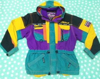 vintage ELLESSE VERTICAL DIVE winter ski jacket hoodies by goldwin size 98-6 jaspol