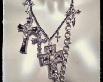 Deathrock Cross Necklace