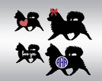 Chihuahua svg, Chihuahua silhouette, Dog svg, Dog silhouette, Love svg, Monogram svg, Cricut, Cameo, Cut file, Clipart, Svg, DXF, Png, Eps